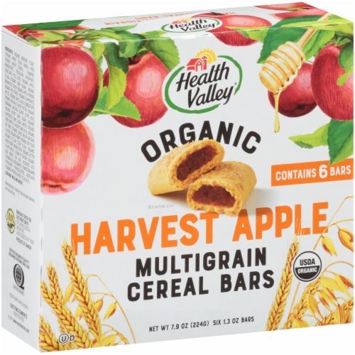 Health Valley Organic Apple Cobbler Cereal Bars Perspective: front