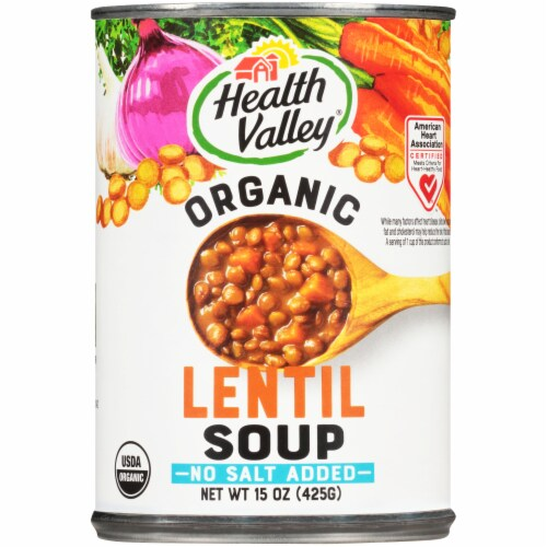 Health Valley Organic Lentil Soup Perspective: front