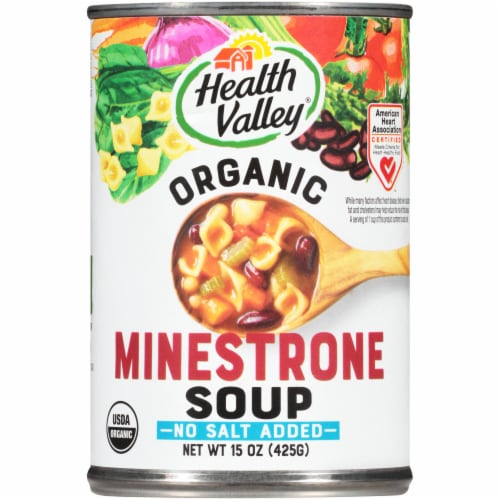 Health Valley Minestrone Soup Perspective: front