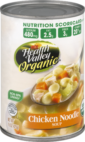 Health Valley Organic Chicken Noodle Soup Perspective: front