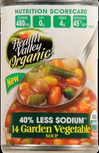 Health Valley Organic 14 Garden Vegetable Soup Perspective: front