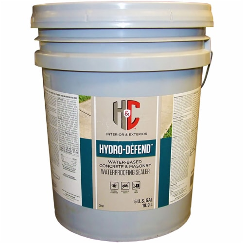 H&C 50.144155 Hydro-Defend water-based Concrete & Driveway Protector CLEAR 5-gallon Perspective: front