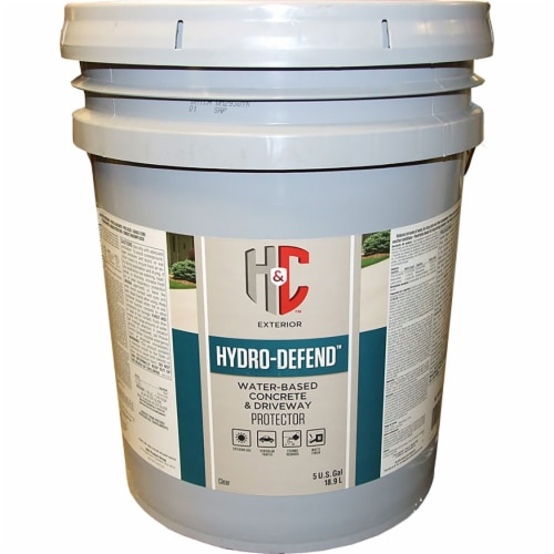 H&C 50.154155-20 Hydro-Defend Water-Based CLEAR Concrete Waterproofer 5-gallon Perspective: front