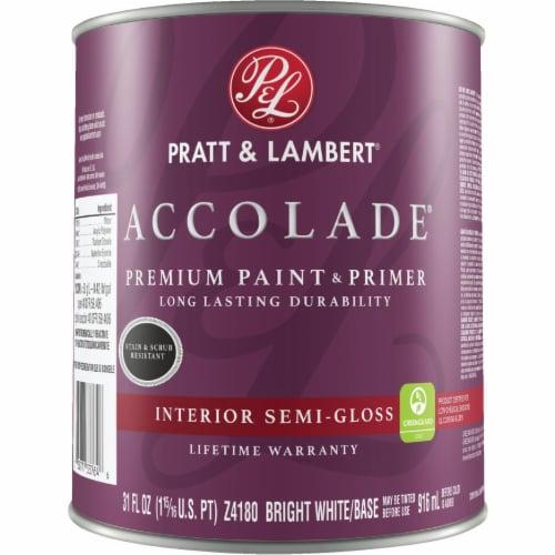 Pratt & Lambert Int S/G Bright Wht Paint 0000Z4180-14 Perspective: front