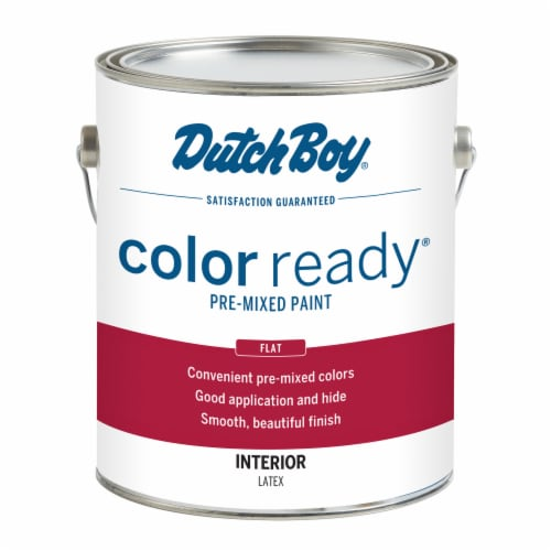 Dutch Boy Color Ready Flat Pre-Mixed Paint - Neutral White Perspective: front