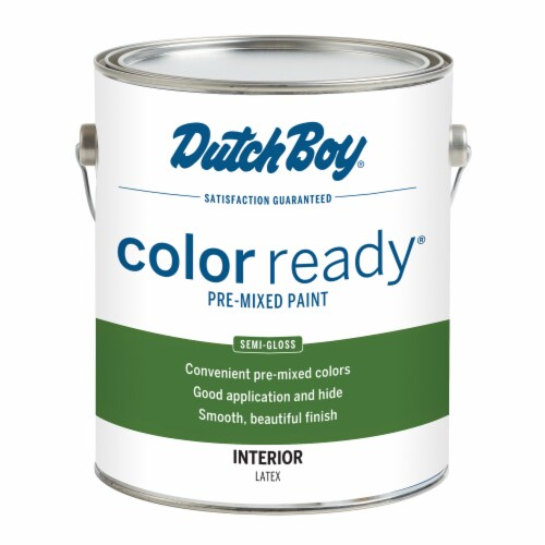 Dutch Boy Color Ready Pre-Mixed Semi-Gloss Interior Paint - White Linen Perspective: front