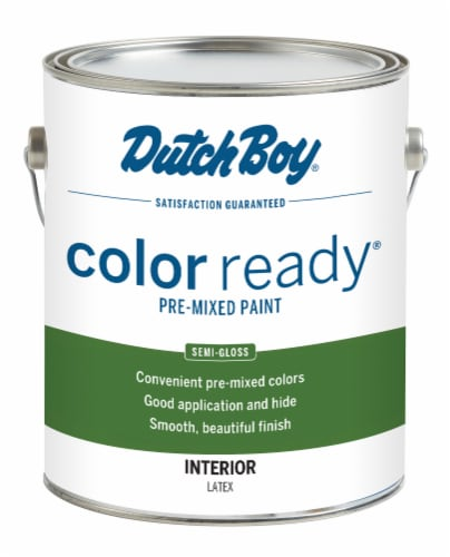 Dutch Boy Color Ready Pre-Mixed Semi-Gloss Interior Latex Paint - Muslin Perspective: front