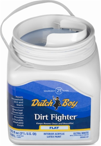 Dutch Boy Dirt Fighter Interior Acrylic Latex Flat Paint - Ultra White Perspective: front