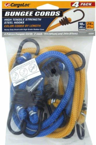 CargoLoc™ Bungee Cords - 4 Piece - Blue/Yellow Perspective: front