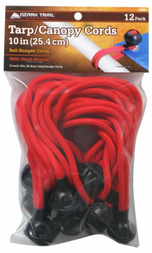 CargoLoc Ball Bungee Cords - Red Perspective: front