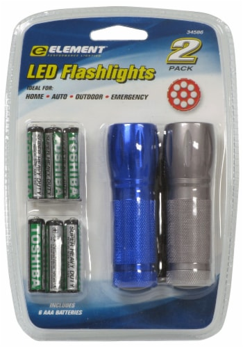 Allied International Element LED Flashlight Batteries Perspective: front