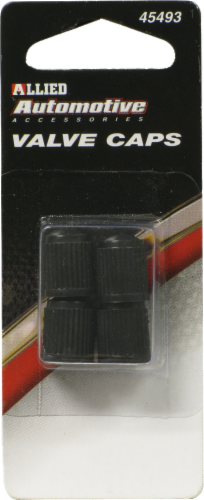 Allied Valve Caps - Black Perspective: front