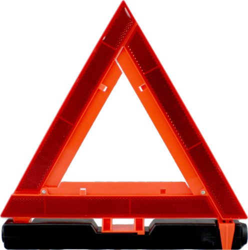Allied Warning Triangle - Orange/Black Perspective: front
