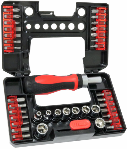 Allied Screwdriver Set - Red/Black Perspective: front
