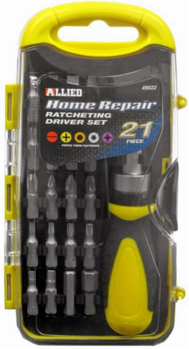 Allied 21-Piece Home Repair Ratcheting Driver Set Perspective: front
