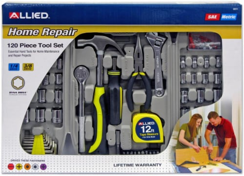 Allied Home Repair 120-Piece Tool Set Perspective: front