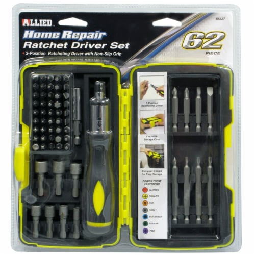 Allied 62-Piece Ratcheting Driver Set Perspective: front