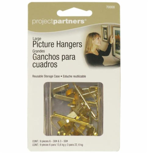 Project Partners Large Picture Hangers - Gold Perspective: front
