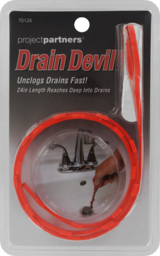Project Partners Drain Devil Allied Drain Cleaner Strip - Red Perspective: front
