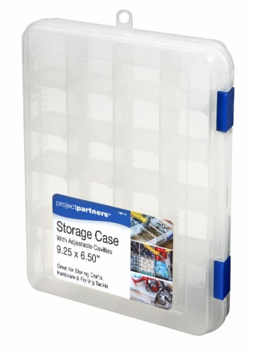 Project Partners Plastic Adjustable Storage Box - Clear Perspective: front