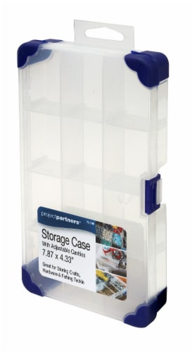 Project Partners Plastic Storage Box - Clear Perspective: front
