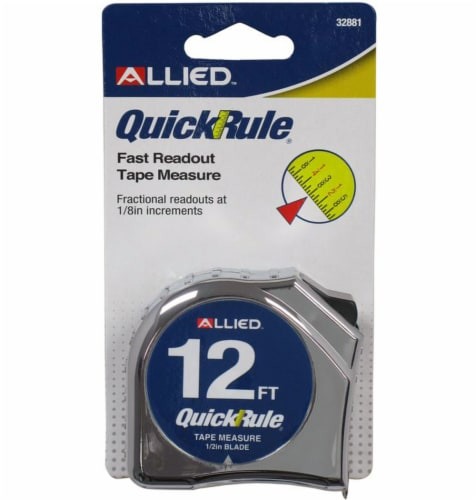 Allied Quick Rule Tape Measure - Silver/Yellow Perspective: front