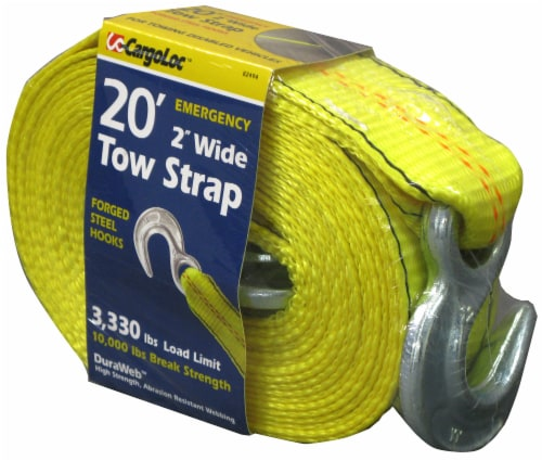 CargoLoc Tow Strap - Yellow Perspective: front