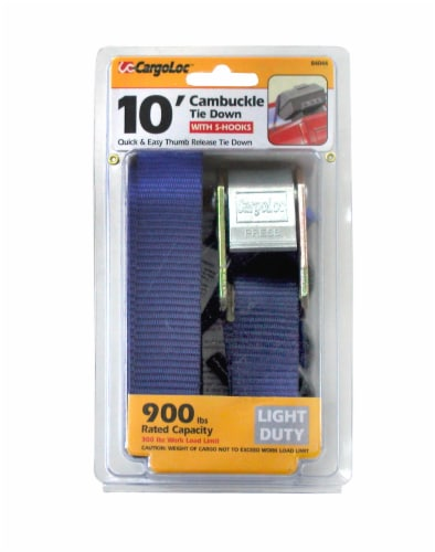 CargoLoc Cambuckle Tie Down - Blue Perspective: front