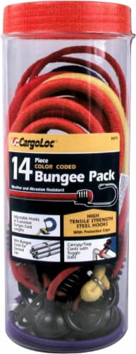 CargoLoc Bungee Cord Pack - 14 Piece - Multi-Colored Perspective: front
