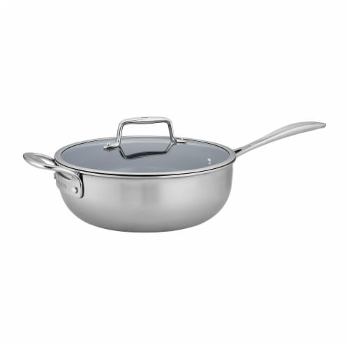 ZWILLING Clad CFX 4.5-qt Stainless Steel Ceramic Nonstick Perfect Pan Perspective: front