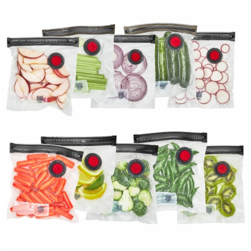 ZWILLING Fresh & Save 10-pc Vacuum Sealer Bags, Sous Vide Bags, Meal Prep - Small Perspective: front