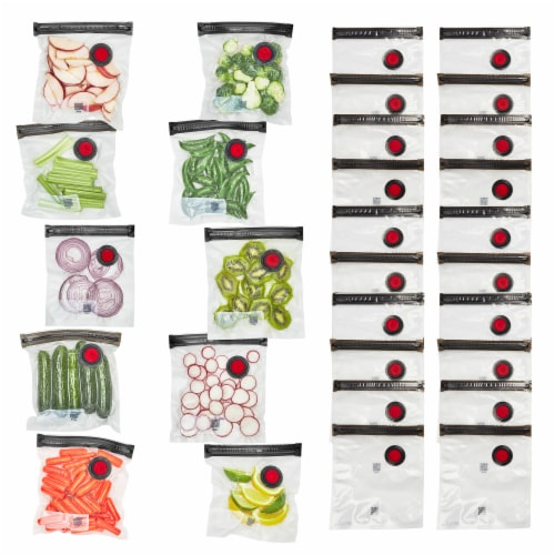 ZWILLING Fresh & Save 30-pc Vacuum Sealer Bags, Sous Vide Bags, Meal Prep - Small Perspective: front
