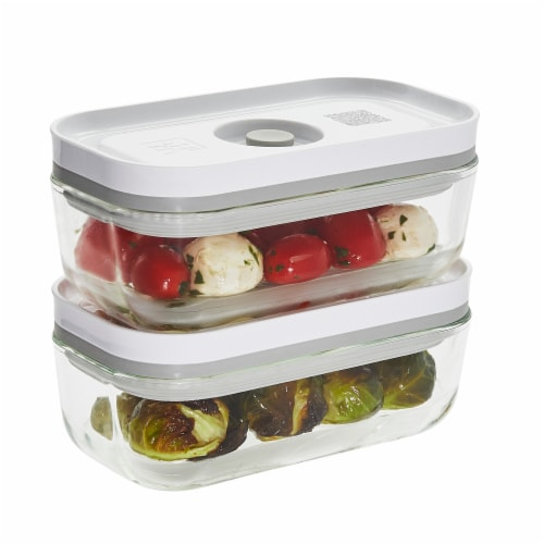ZWILLING Fresh & Save 2-pc Glass Airtight Food Storage Container, Meal Prep Container - Small Perspective: front