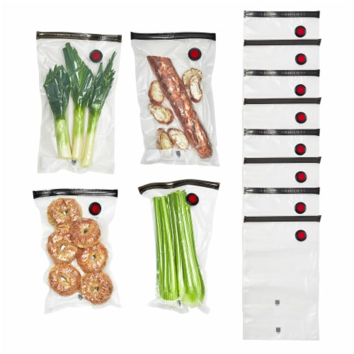 ZWILLING Fresh & Save 12-pc Vacuum Sealer Bags, Sous Vide Bags, Meal Prep - Large Perspective: front