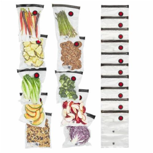 ZWILLING Fresh & Save 20-pc Vacuum Sealer Bags, Sous Vide Bags, Meal Prep - Medium Perspective: front