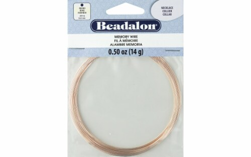 Beadalon Memory Wire Necklace Rnd Rose Gold .5oz Perspective: front