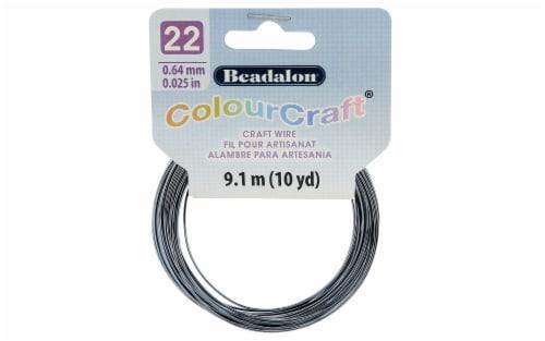 Beadalon ColourCraft Wire 22ga Grey SP 10yd Perspective: front