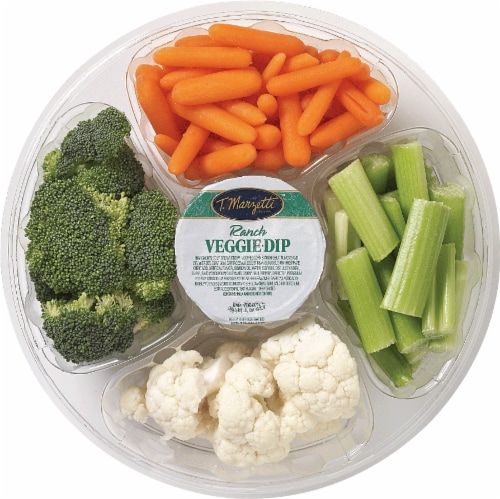 Small Vegetable Tray with Ranch Dip Perspective: front