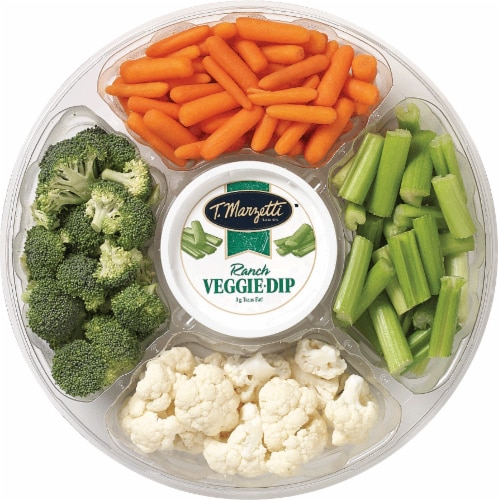 Pearson's Large Vegetable Tray with Ranch Dip Perspective: front