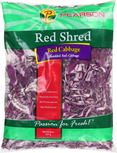 Pearson's Cabbage Red Shredded Cabbage Perspective: front