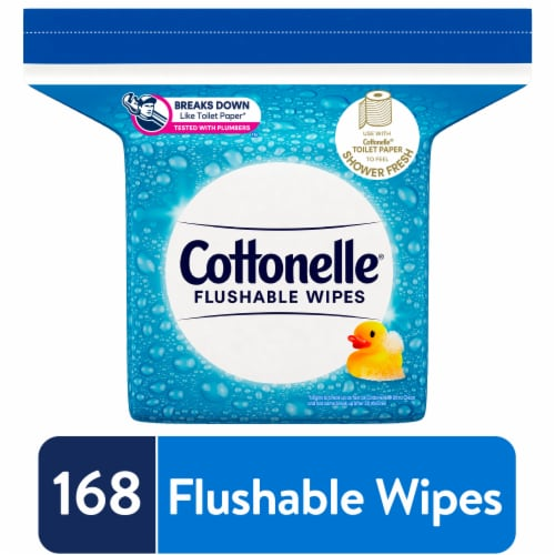Cottonelle Flushable Wet Wipes Refill Pack Perspective: front