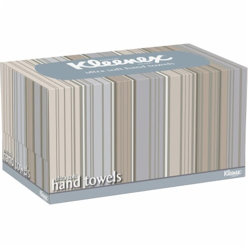 Kleenex Ultra Soft Hand Towels, Pop-Up Box, White, 70/Box 11268 Perspective: front