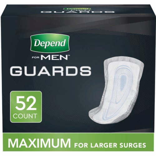Depend Maximum Absorbency Incontinence Guards for Men Perspective: front