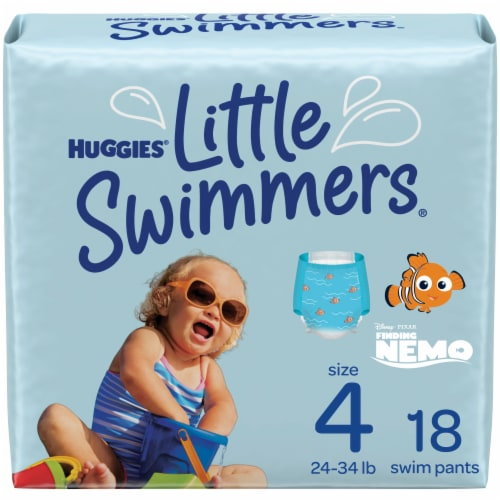 Huggies Little Swimmers Size 4 Swim Diapers Perspective: front