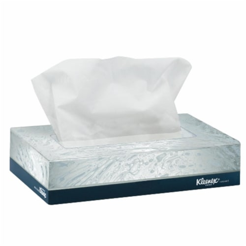 White Facial Tissue Junior Pack, 2-Ply, 40 Sheets/Box, 80 Boxes/Carton 21195 Perspective: front