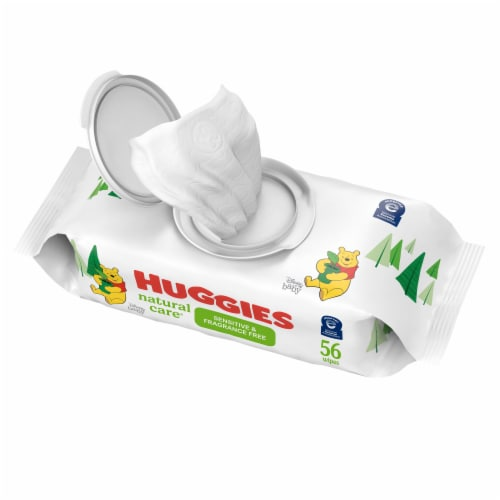 Huggies Natural Care Sensitive Unscented Baby Wipes Perspective: front