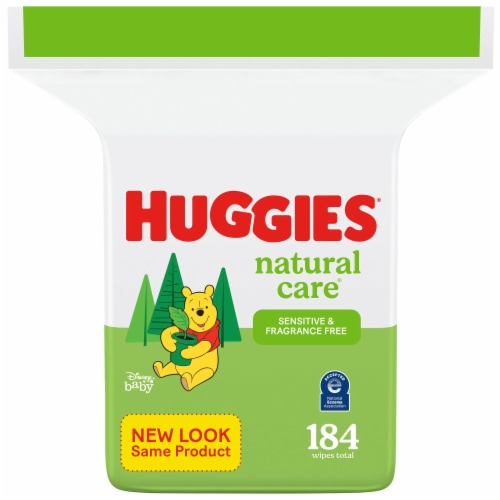 Huggies Natural Care Sensitive Unscented Baby Wipes Refill Pack Perspective: front