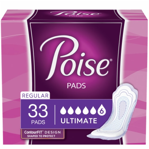 Poise Ultimate Absorbency Incontinence Pads Perspective: front