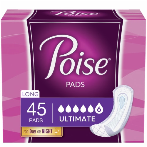 Poise® Long Ultimate Absorbency Incontinence Pads Perspective: front