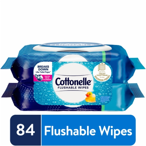 Cottonelle Flushable Wipes Perspective: front